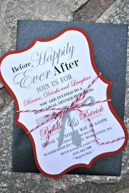 31 cool invitation ideas for a rehearsal dinner weddingomania
