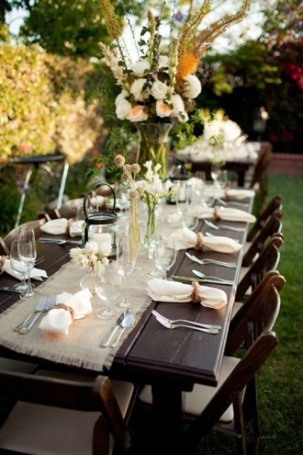 Etonnant Rustic Styled Rehearsal Dinner Decor Ideas