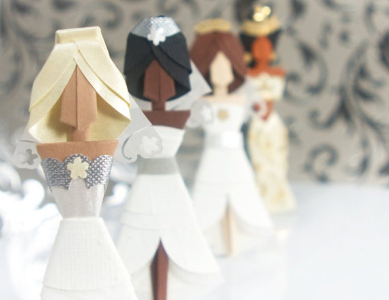 Picture of awesome origami wedding inspirational ideas for Romantic origami ideas