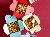 boxes with your personal nut mix are amazing fall wedding favors and most of guests will totally love them