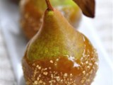 delicious candied pears are a fresh take on candied apples, these are cool and delicious fall wedding favors are amazing