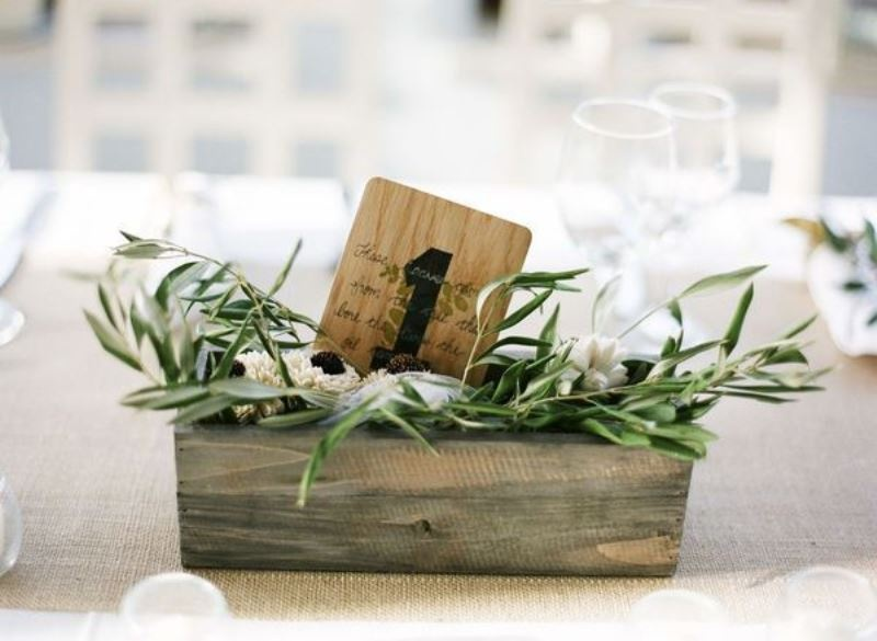Picture Of organic inspired olive branch wedding decor ideas 17