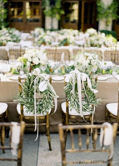 31 organic inspired olive branch wedding decor ideas weddingomania. Black Bedroom Furniture Sets. Home Design Ideas