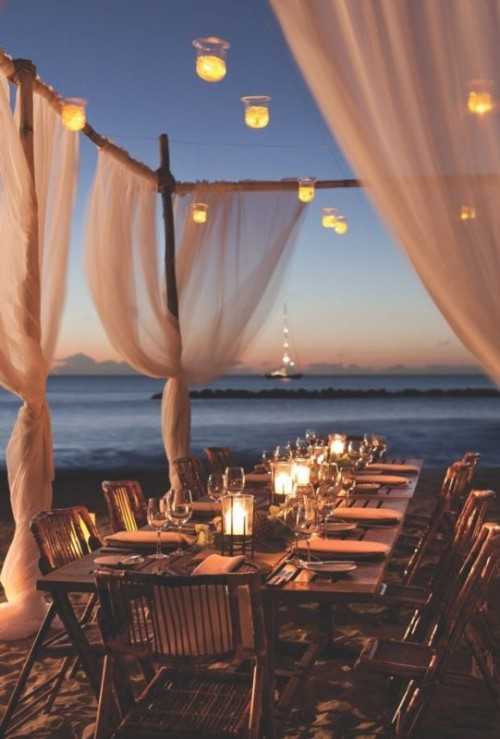 32 Romantic And Beautiful Destination Wedding Lightning Ideas