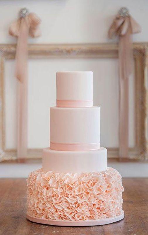 32 Romantic Light Pink Wedding Cakes Weddingomania - Pastel Pink Wedding Cake