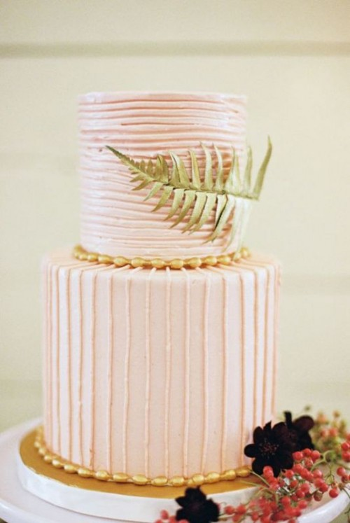Romantic Light Pink Wedding Cakes