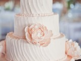 32 Romantic Light Pink Wedding Cakes