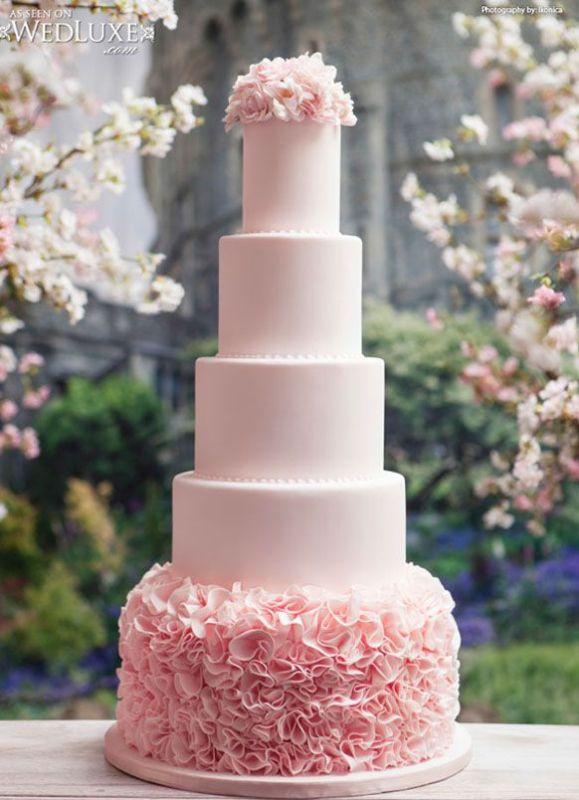 Romantic Light Pink Wedding Cakes