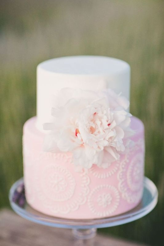 wedding cakes white and light pink picture of light pink wedding cakes 25946