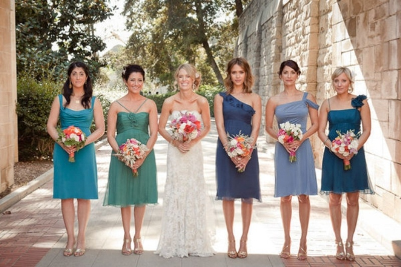 32 Trendy Mismatched Bridesmaids Dresses Ideas - Weddingomania
