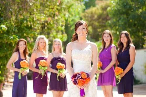 Trendy Mismatched Bridesmaids' Dresses Ideas