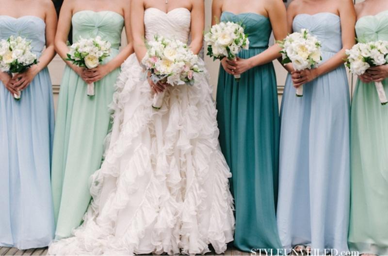 32 Trendy Mismatched Bridesmaids Dresses Ideas - Weddingomania