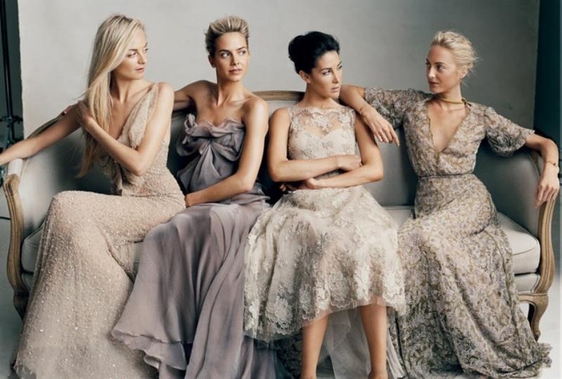 Picture Of Trendy Mismatched Bridesmaids' Dresses Ideas