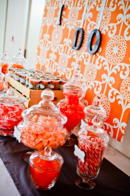 Summer Wedding Music Ideas : Picture of cheery orange wedding ideas
