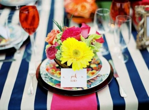 33 Lovely Ideas To Decorate Your Wedding With Stripes
