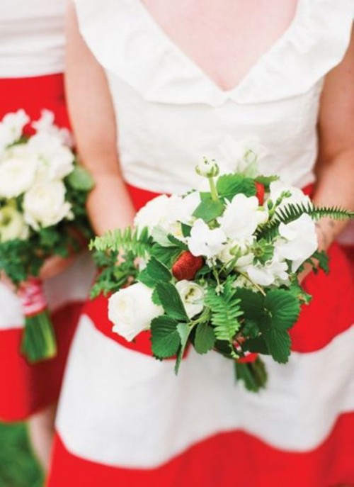 33 Red, Green And White Winter Wedding Inspirational Ideas