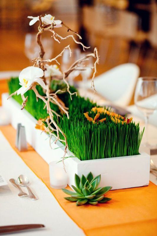 Picture of stylish modern wedding centerpieces to get inspired