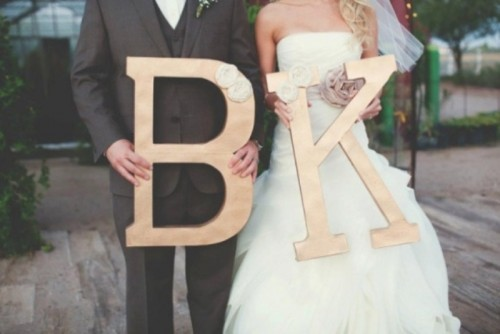 33 Unique Ways To Use Your Initials On A Wedding Day