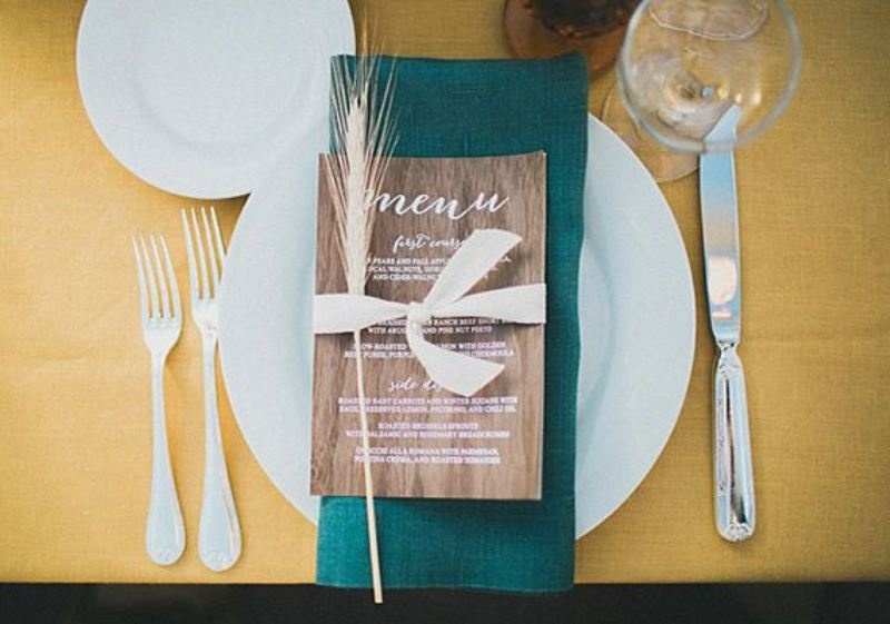 Picture Of wheat decor ideas for a rustic country wedding  10