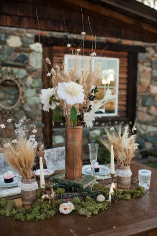 Picture Of wheat decor ideas for a rustic country wedding  12