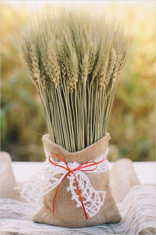 Picture Of wheat decor ideas for a rustic country wedding  14