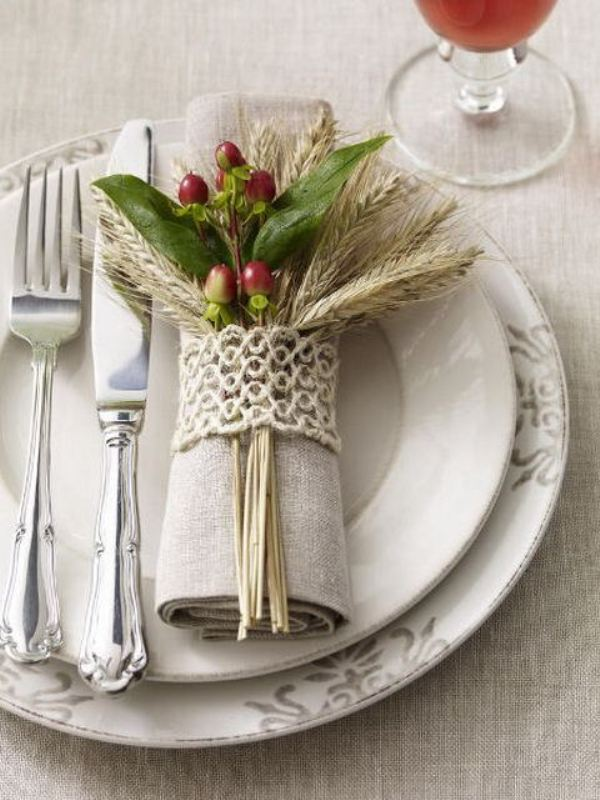 Picture Of wheat decor ideas for a rustic country wedding  15