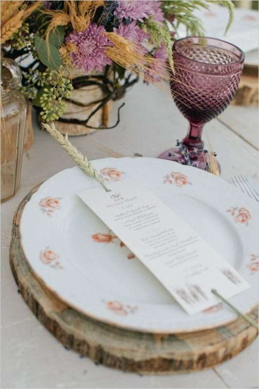 Picture Of wheat decor ideas for a rustic country wedding  2
