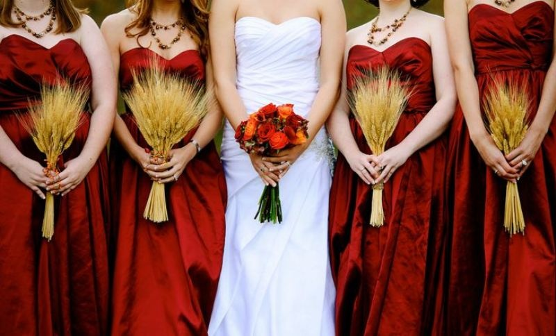 Picture Of wheat decor ideas for a rustic country wedding  20