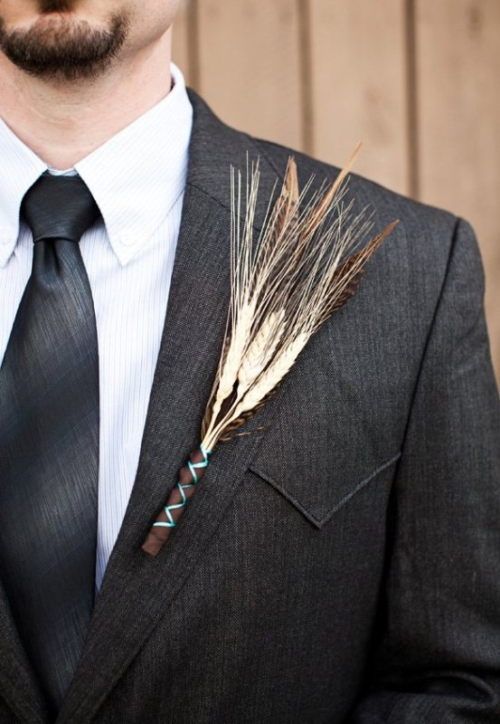 Picture Of wheat decor ideas for a rustic country wedding  25