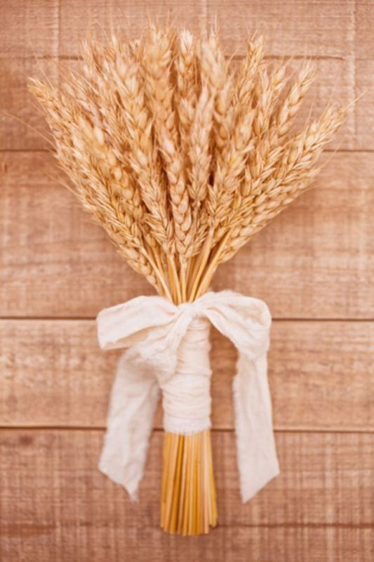 Picture Of wheat decor ideas for a rustic country wedding  27