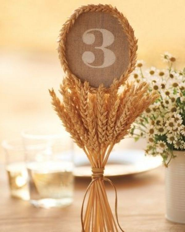 Picture Of wheat decor ideas for a rustic country wedding  4