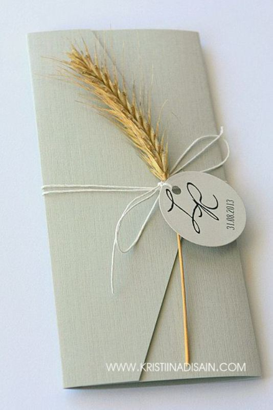 Picture Of wheat decor ideas for a rustic country wedding  6