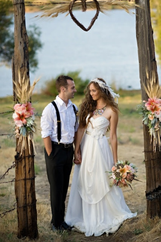 Picture Of Wheat Decor Ideas For A Rustic Country Wedding 9