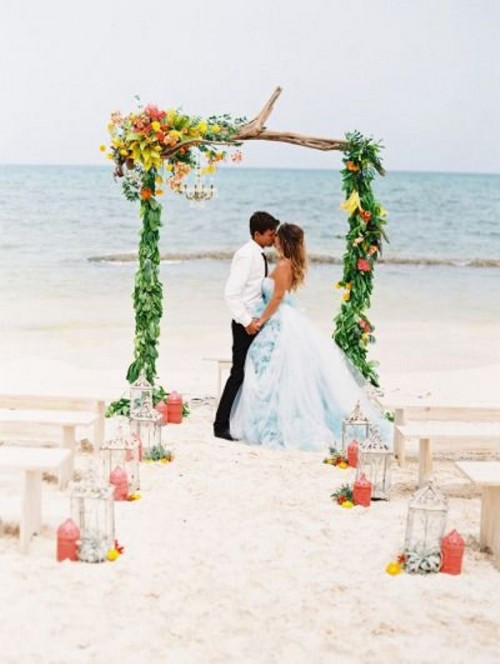 34 awesome tropical wedding ceremony ideas weddingomania awesome tropical wedding ceremony ideas junglespirit Gallery