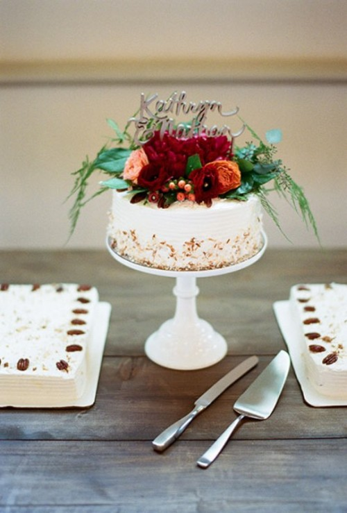 Pretty One Tier Wedding Cakes To Get Inspired