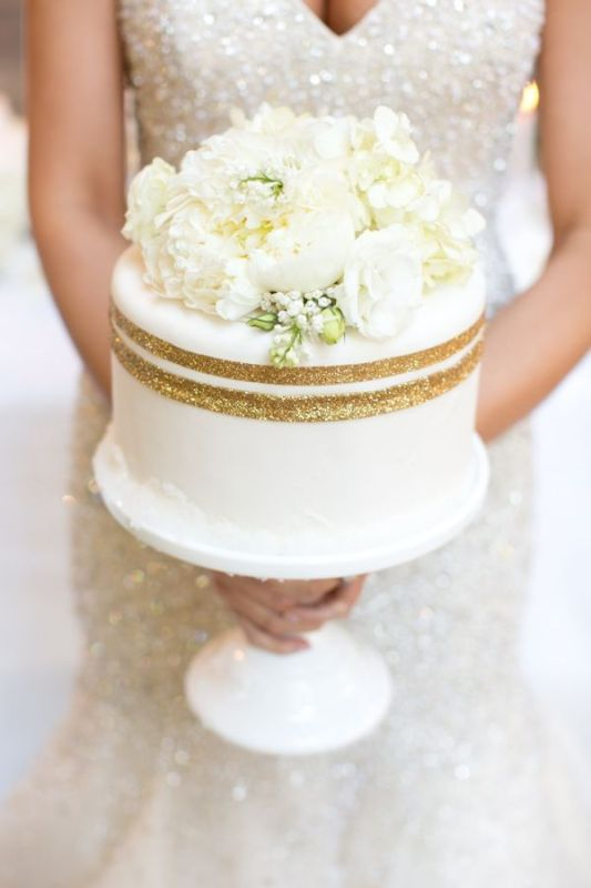 Single Tier Wedding Cake No Fondant