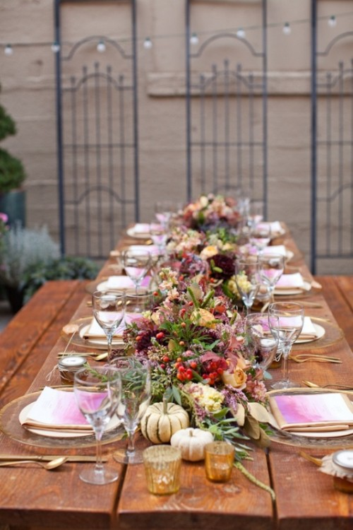 Amazing Fall Wedding Table Decor Ideas