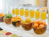 fresh fruit and berries plus fresh juice bar is perfect for a brunch wedding or for a tropical wedding