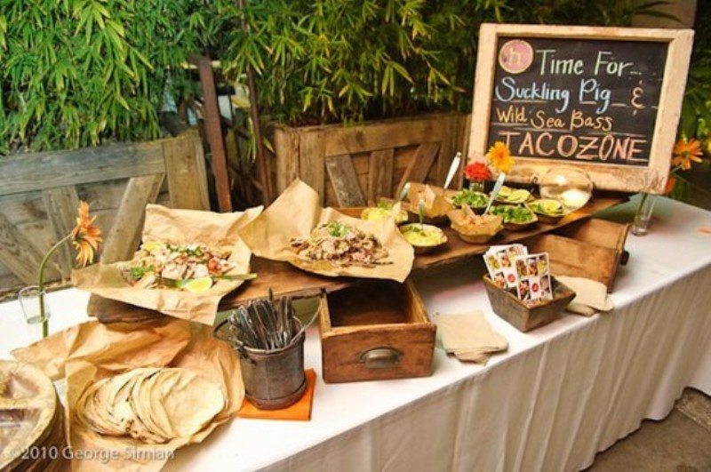 Picture of awesome wedding food bar ideas for any taste for Food bar borca