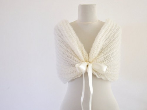 a crochet coverup with a bow is a great idea to stay warm and comfortable, you may even DIY it