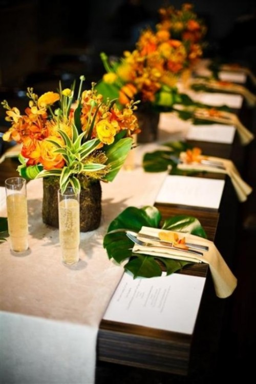 Tablescapes 35 bright tropical tablescapes for a paradise-like destination