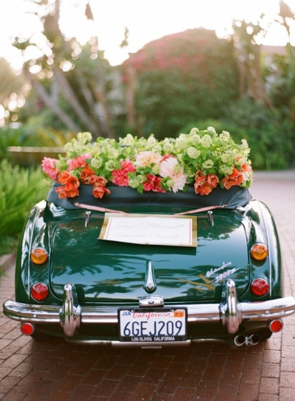 Picture of cool and creative wedding getaway car decor ideas for Car picture ideas