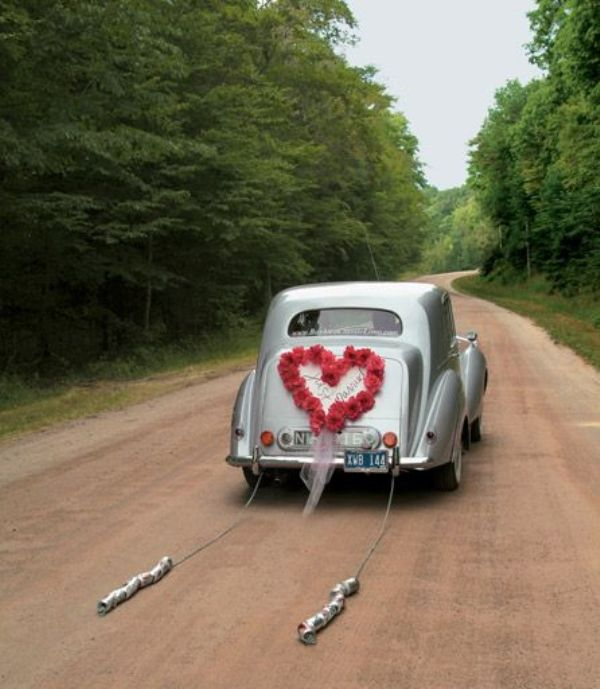 Picture Of Cool And Creative Wedding Getaway Car Decor Ideas