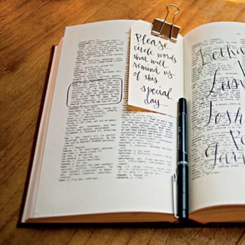 Creative Wedding Guest Book Ideas: 35 Non-traditional And Creative Wedding Guest Book Ideas