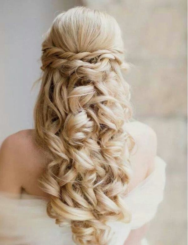 35 Pretty Half Updo Wedding Hairstyles Weddingomania