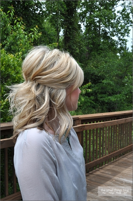 Pretty Half Updo Wedding Hairstyles