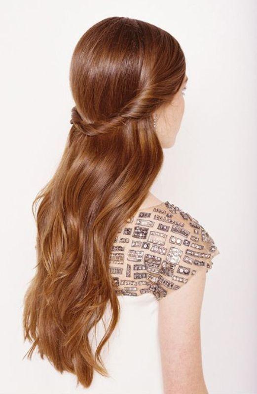 Pretty Half Updo Wedding Hairstyles