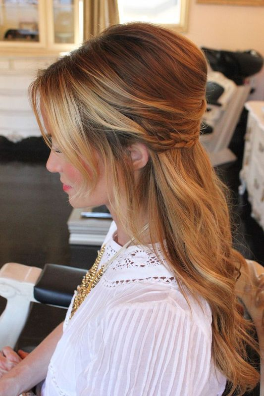 35 pretty half updo wedding hairstyles weddingomania