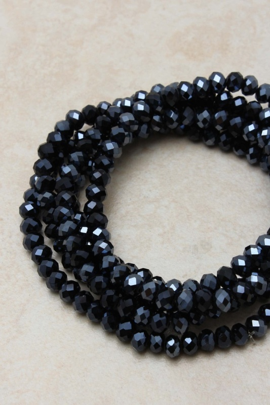 a midnight blue bead necklace is a stylish accessory for a bride or bridesmaids
