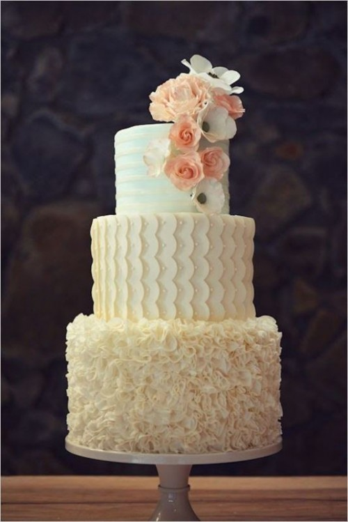 35 Trendy And Fancy Textured Wedding Cakes Weddingomania
